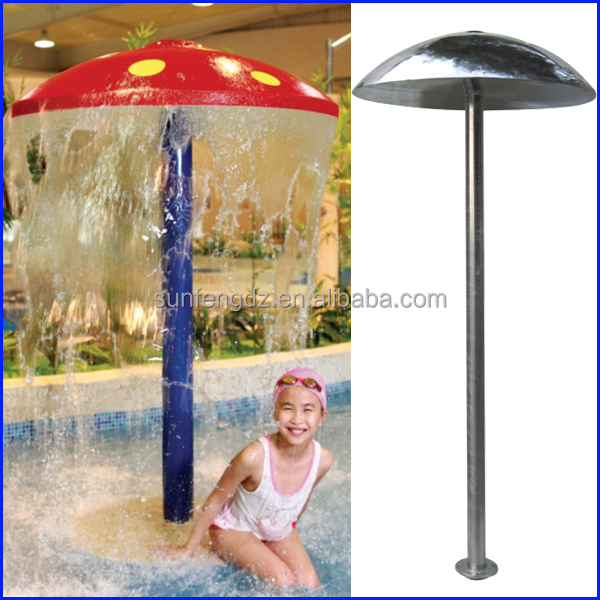 umbrella water park fountain/mushroom for swimming pool/Water Park Fiberglass Mushroom Fountain