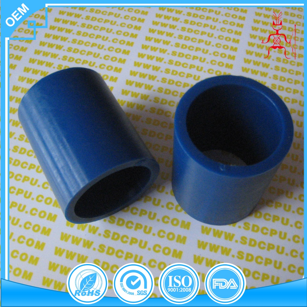 Injection black plastic sleeve bushings in cast nylon