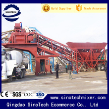 35 m3/h easy transitions china trailer concrete mixing plant for sale