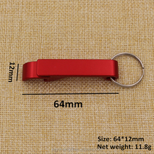 Wholesale price blank red aluminum bottle opener keyring