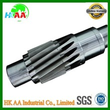 High quality custom design service helical gear shaft scooter worm gear shaft