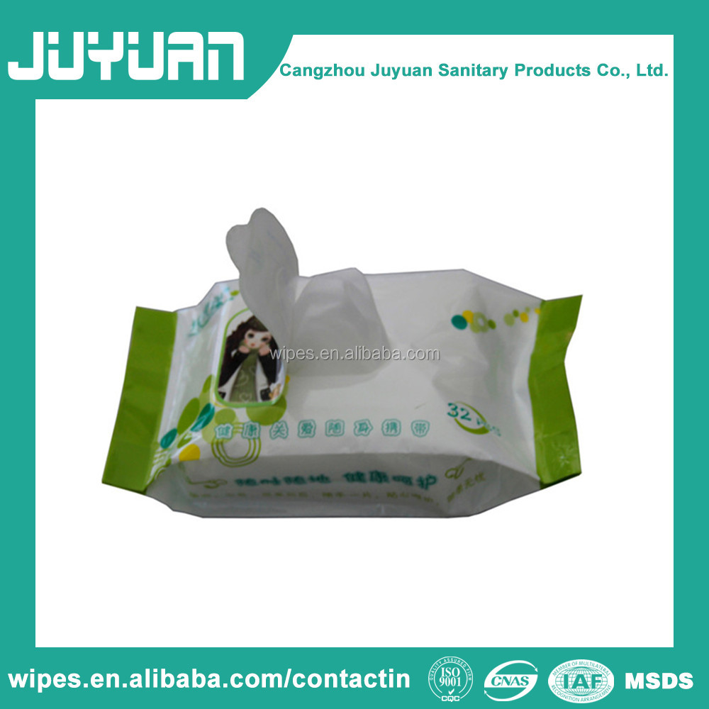 High Quality Antiseptic Feminine Wipe Wet Wipe made in Factory from China OEM