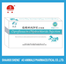 Manufacture supplier Veterinary Drugs and Medicine Ciprofloxacin Hydrochloride Injection
