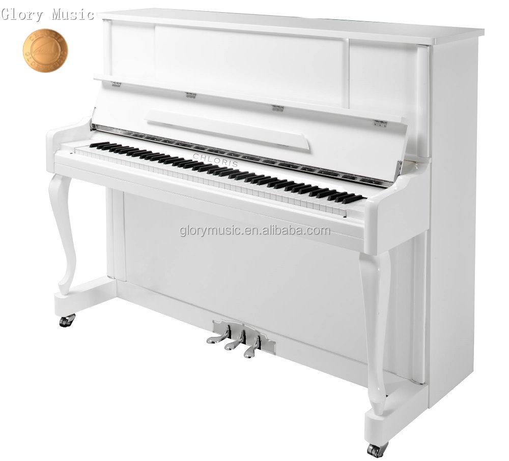 Keyboard Musical instruments 88 keys white baby Upright Piano with matched bench and accessories