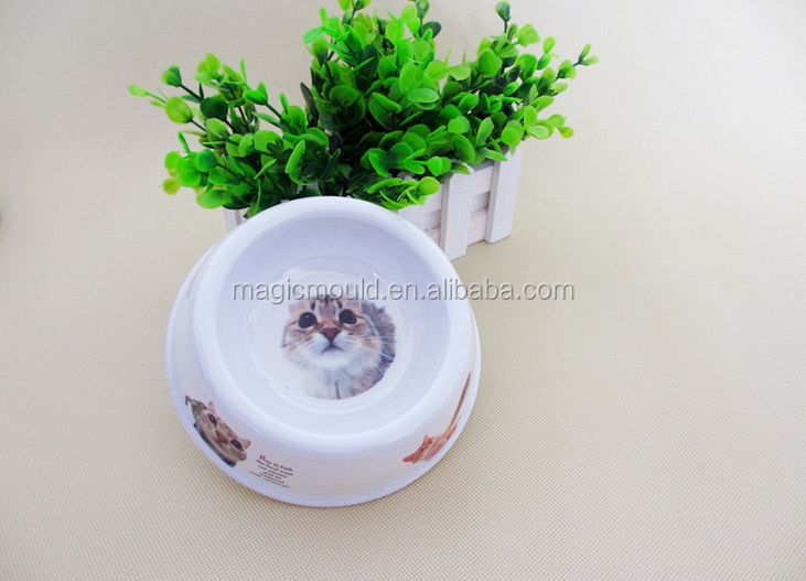 fashion design New creative pet products dogs durable non-toxic plasitc pet bowl mould