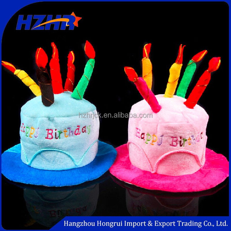 Birthday cake caps with candles pet hat gift dog hats pet dog hat decoration