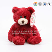 Red sitting teddy bear toys for girls