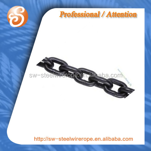 High quality Welded black Link Chain,Iron DIN 763 in Nantong