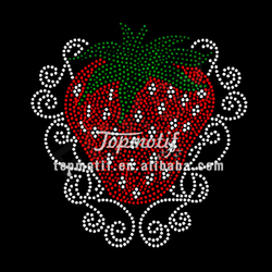 Sweet Strawberry Fruits Rhinestone transfers heat motif