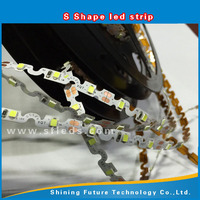 2835 S shape Flexible 12 volt led lights,12V bendable led strip micro mini led lights