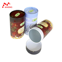 Promotional gift round cylinder cardboard gift box with lid