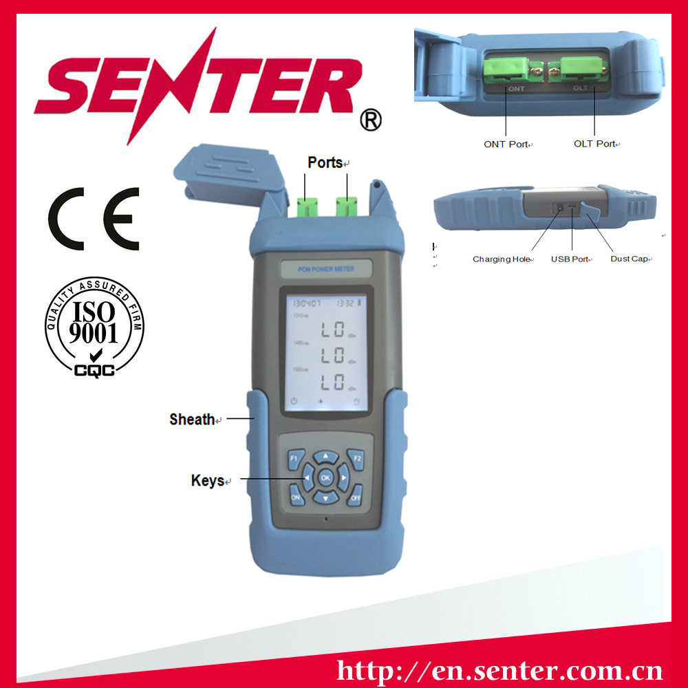 SENTER ST805C Handheld PON network power meter SC/PC SC/APC with Li-battery