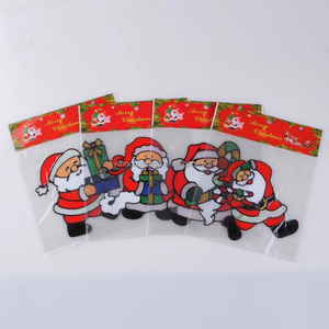 China Top Ten Selling Products Christmas Jelly Gel Sticker Window Sticker Glass Sticker