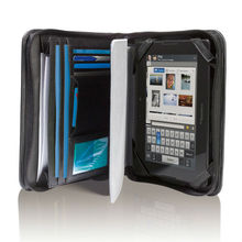 Nappa leather portfolio holds and protects your PlayBook tablet.