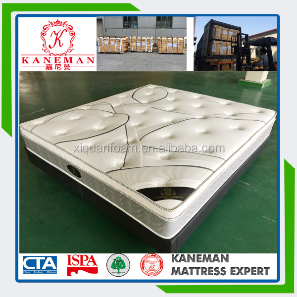 Hard king size spring mattress for bedroom furniture in China