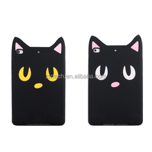 3D Luna cat silicone rubber case for ipad mini 2 3 Soft Silicon tablet cases for ipad 234