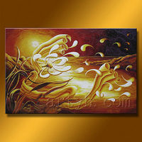 color yellow flower oil painting for sale on canvas