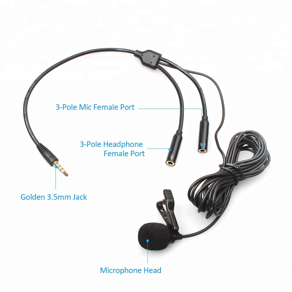 Wholesale Laptop Microphone Jack Online Buy Best Telephone Wiring 3 Pole External 35mm Clip On Lapel Lavalier Mic Strongmicrophone Strong
