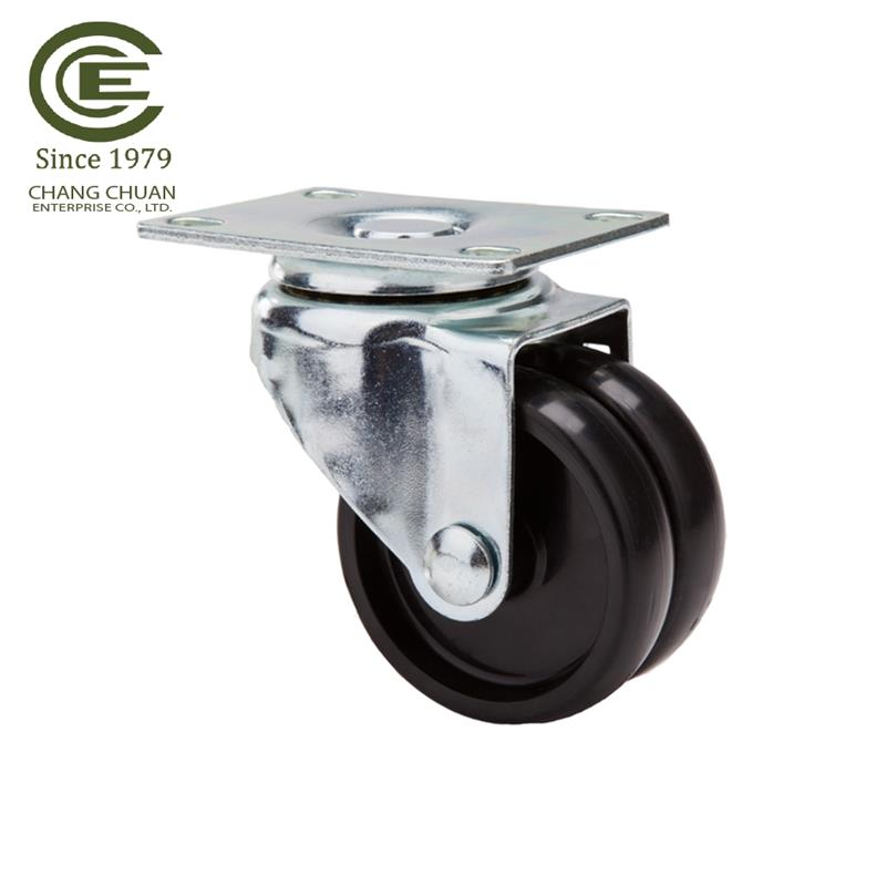 3 inch PU Mid Duty Plate Swivel trolley Trolley caster Wheel for Handling Equipment