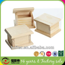 China alibaba small wholesale unfinished wooden craft boxes