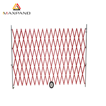 MAXPAND Outdoor Metal Temporary Expandable Barrier Folding Flexible Fence Sliding Gate