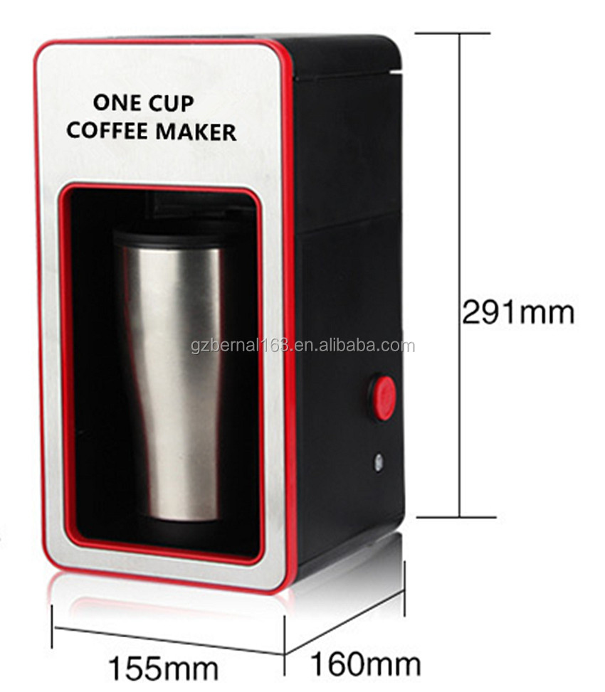 Single Cup Coffee Machine/ Single Cup Coffee Maker/ Instant Coffee Machine/drip Coffee Maker ...