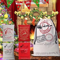 Christmas Drawstring Cotton Gift Bag Wholesale