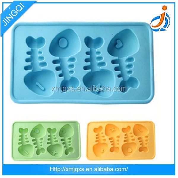 Funny Fish Bone Shaped Silicone Ice Tray