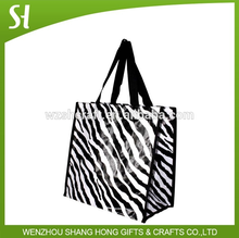 Factory pp woven bag/eco-friendly shopping bag with zebra prints