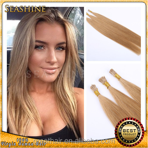 Factory price Keratin i Tip Virgin Hair, 100% Human Fusion Brazilian Stick I Tip Hair