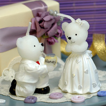 Factory wholesale cute bear shaped wedding candle