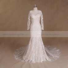 2016 pictures of sexy wedding night dresses gown mermaid wedding dress with sleeves