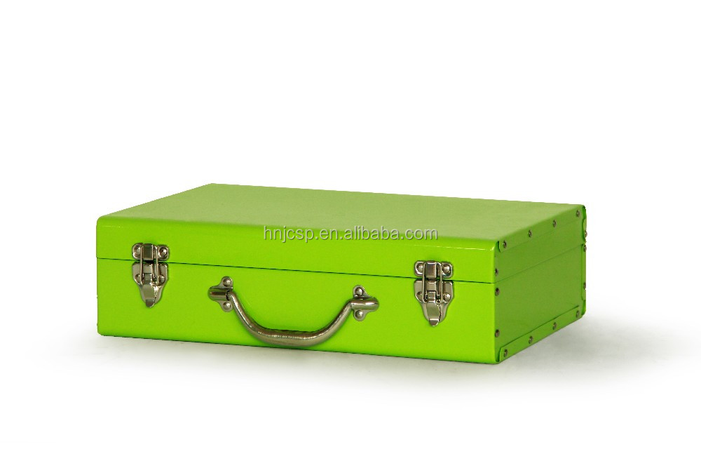 Hot sale colorful rectangle multipurpose metal trunk