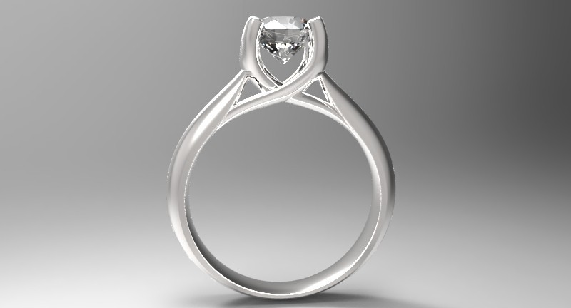 Engagement 3D CAD Ring -C4