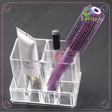 customized PS cosmetic display organizer acrylic makeup storage holder