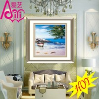 BLUE SKY AND WHITE CLOUDS HOT OIL PAINTING PHOTO IMAGE WALL DIY CRYSTAL DIAMOND HOME DECOR OIL PAINTING