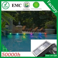 5 colors IP68 solar powered led underwater light for swimming pool