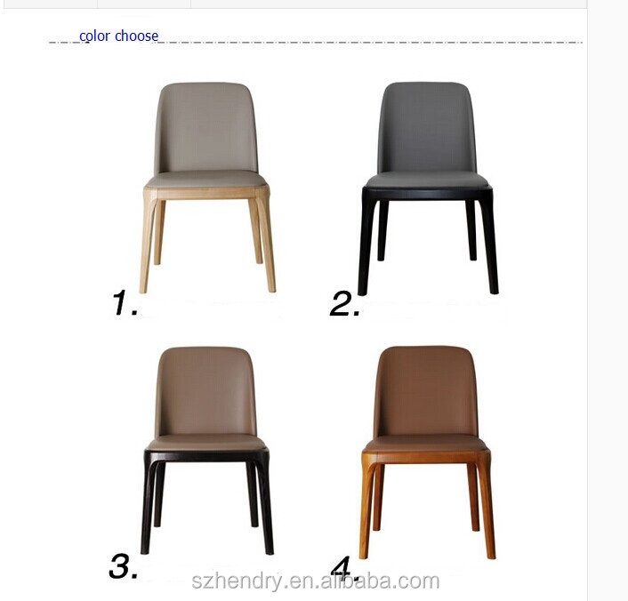 Popular wholesale cheap Price French leather dining room chair