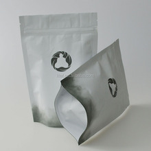 Matt finished Custom Food Grade tea Plastic Bag with foil material tea stand up packing bag