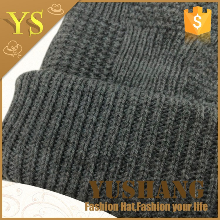 custom your own logo knitted winter caps /beanie hats /100% wool knitted hats