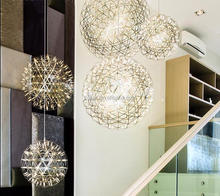 stainless steel G4 lampholder silver golden bird nest pendant light
