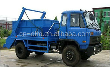 low price 145 6.5-8 m3 swing arm garbage truck in Malaysia