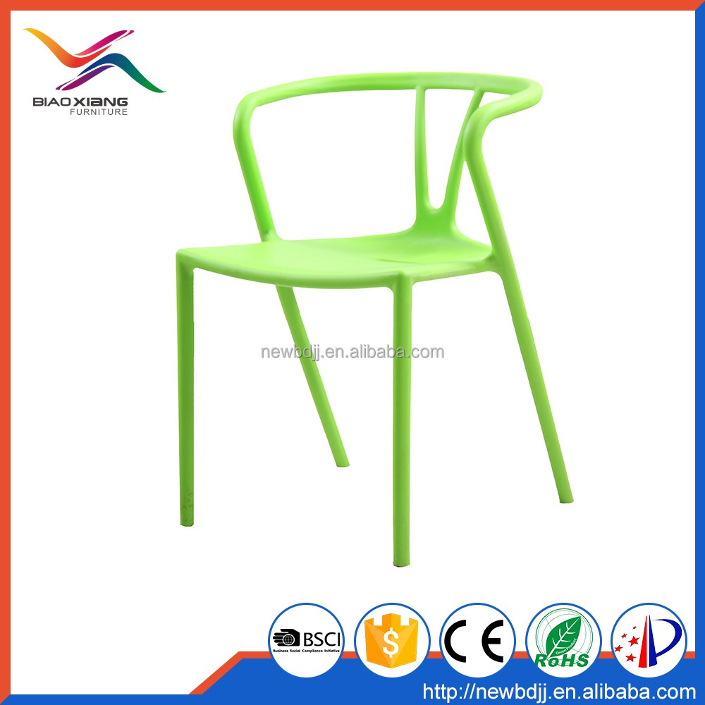 cheap price no folded green color stackable outdoor garden chair from China