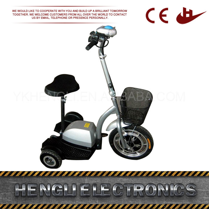 Three 4 Wheel Kids Gas Scooter Lightweight Mobility Scooters