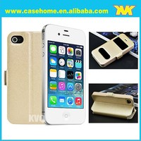 Leather Back cover case for iPhone 4 ,Factory Wholesale High Quality Genuine Leather i Phone 6 Case 4.7 inch