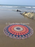 Wholesale Printed Indian Tapestry Mandala Throw Round Beach Towel Hippie Yoga Mat Boho Roudnie Picnic Blanket