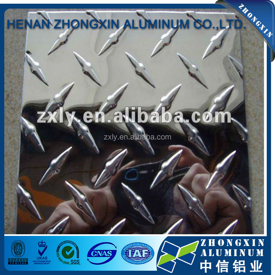 Aluminum Ribbed plate 3003 h14 for truck