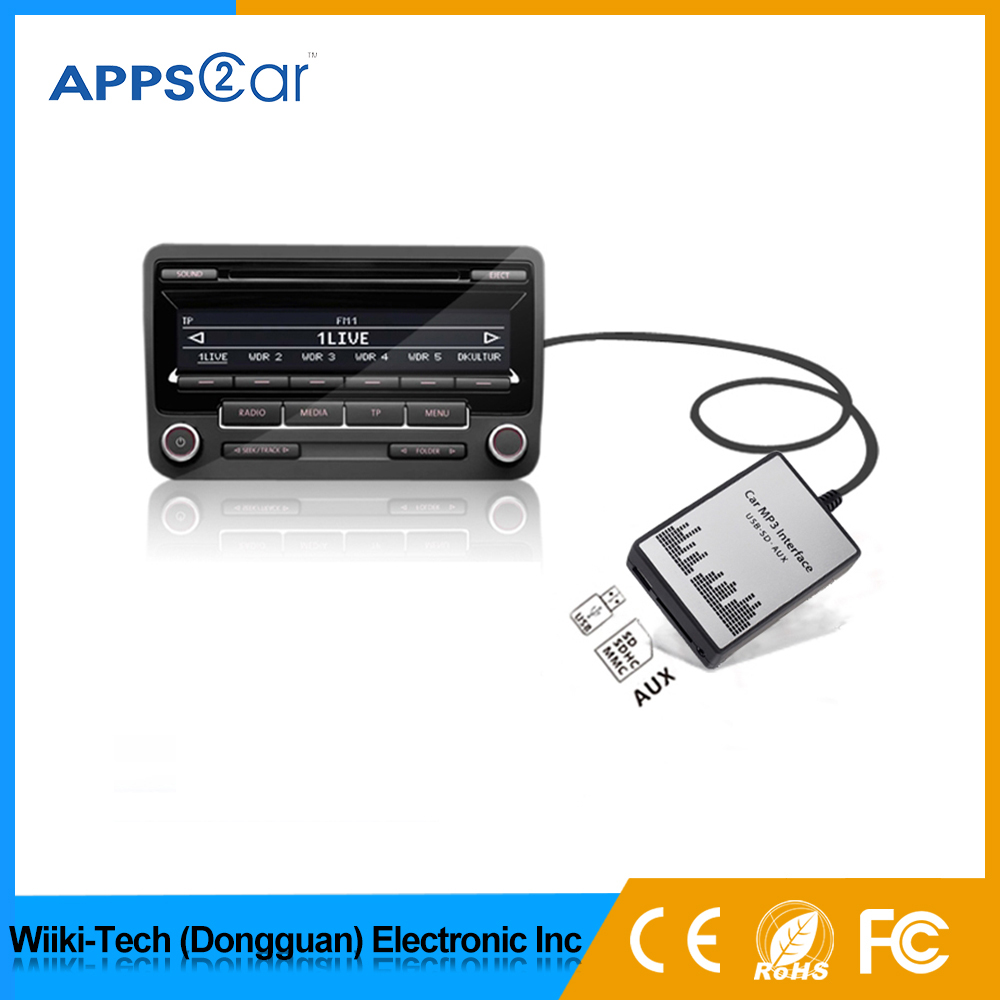 car usb sd aux adapter for OEM car radio,car audio mp3 cd player adapter