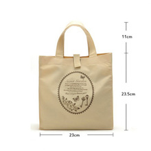 Stylish grocery shopping 600d polyester cotton canvas tote bag