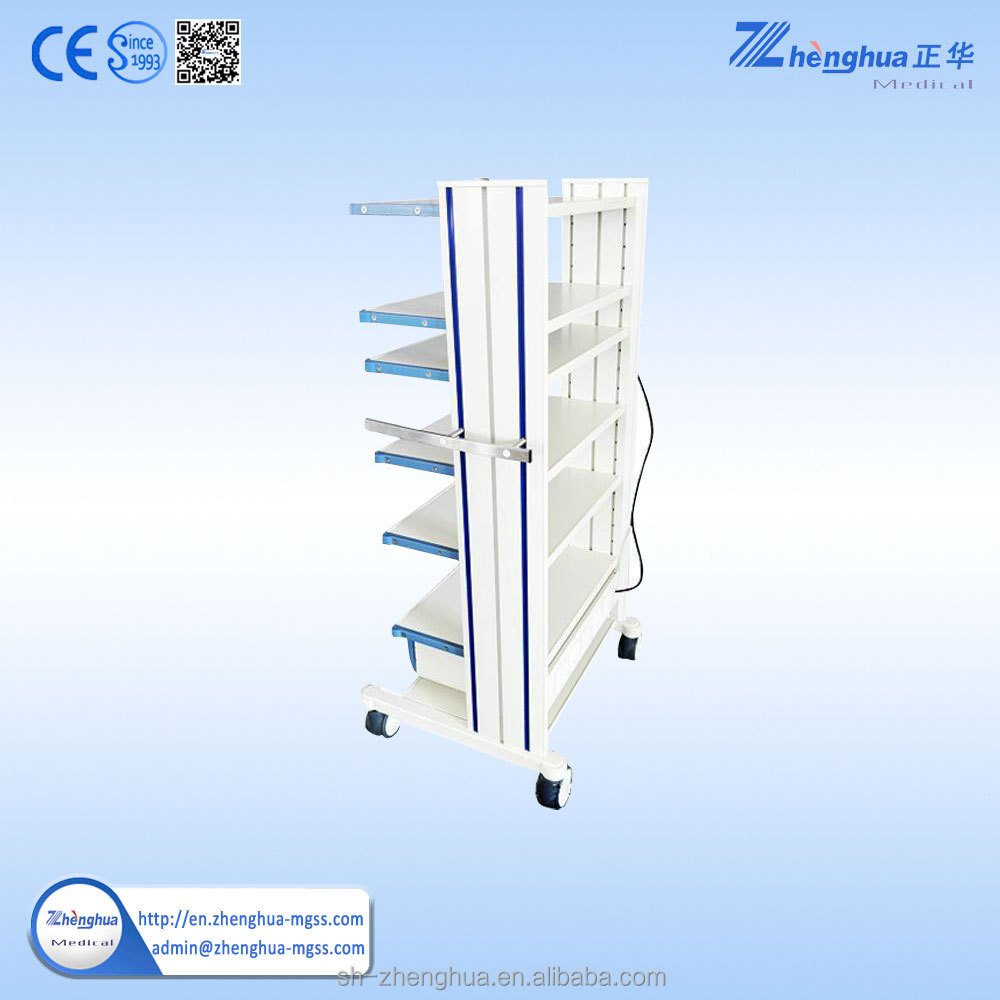 hospital stainless steel trolley emergency trolley equipment function